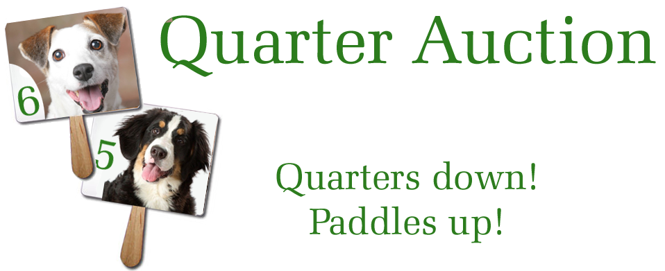 Quarter Auction | PAWS for People Auction Paddles Png