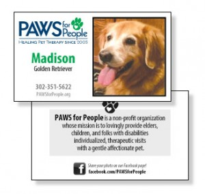 Paws pet business cards paws for people paws pet business cards colourmoves