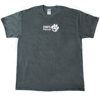 paws person tee gray