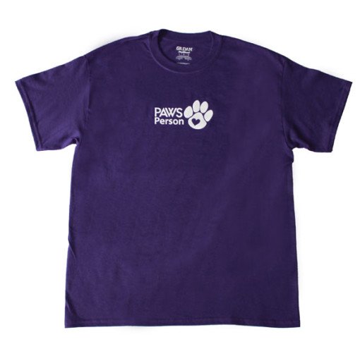 paws person tee purple